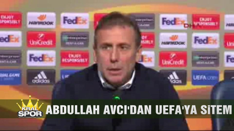 Abdullah Avcı'dan UEFA'ya sitem