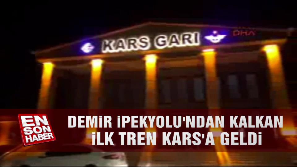 Demir İpekyolu'ndan kalkan ilk tren Kars'a geldi