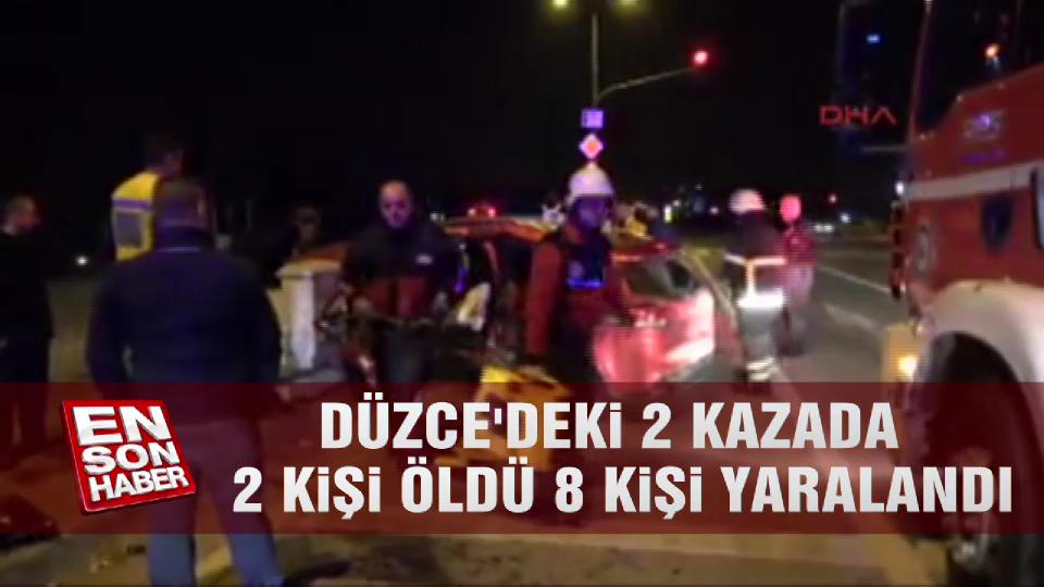 Düzce'deki 2 kazada 2 kişi öldü, 8 kişi yaralandı