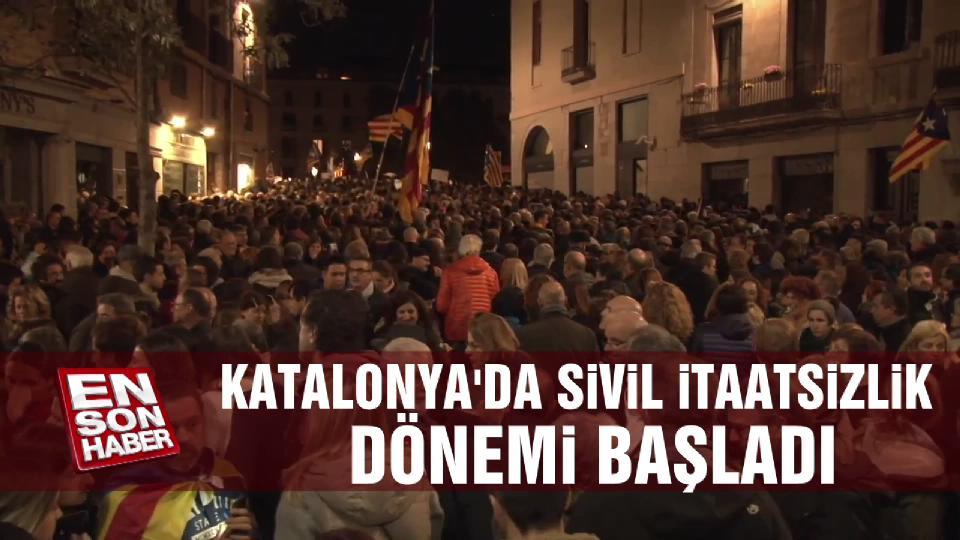 Katalonya'da sivil itaatsizlik dönemi başladı