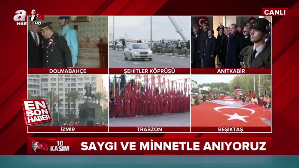 Türkiye Mustafa Kemal Atatürk'ü anıyor