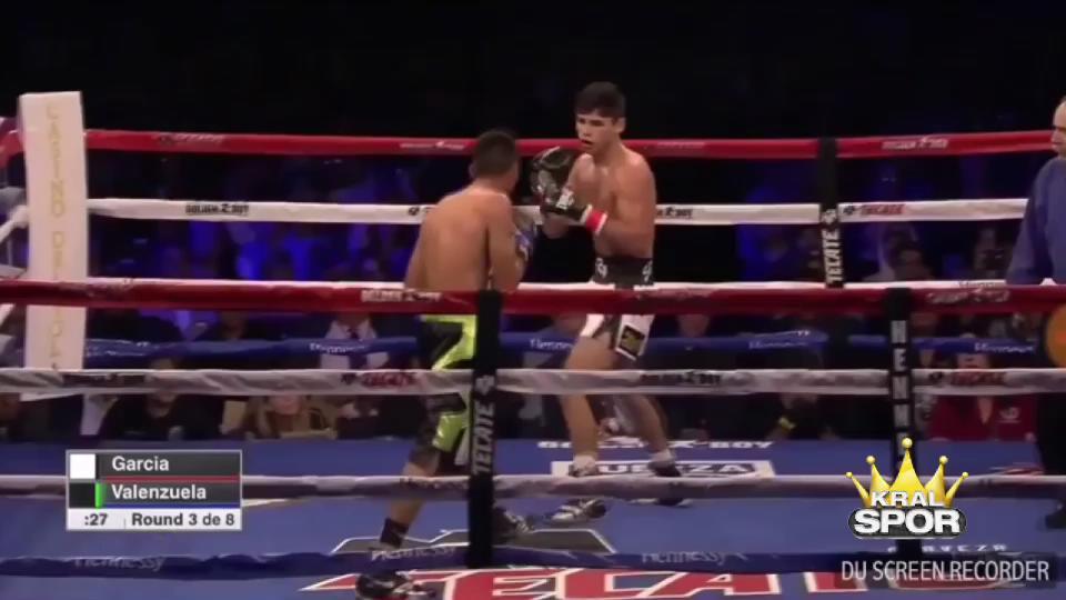 Genç boksör Ryan Garcia önüne geleni nakavt ediyor