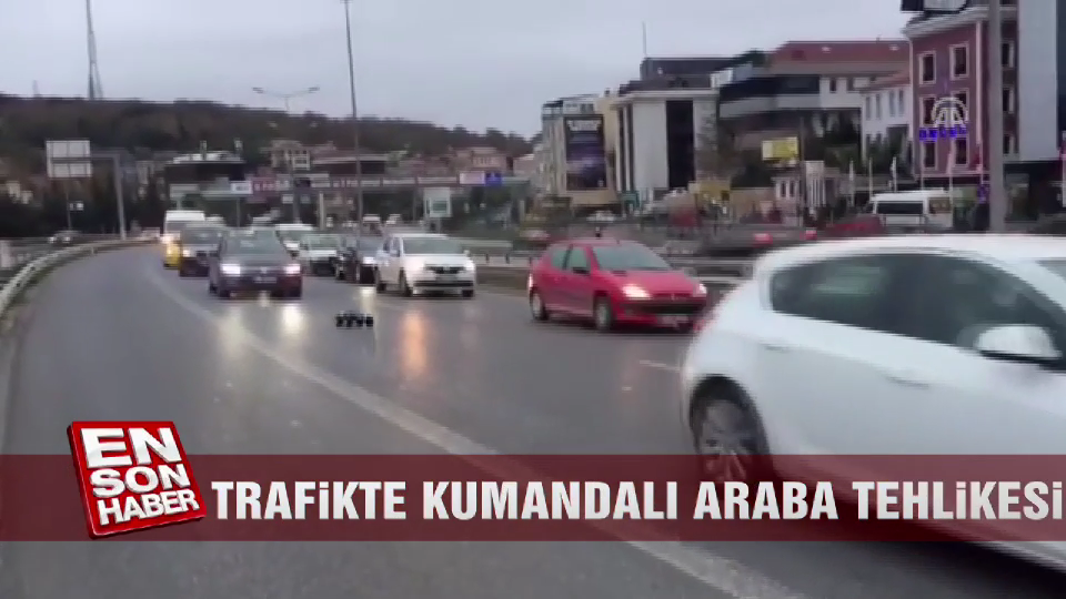 Trafikte kumandalı araba tehlikesi