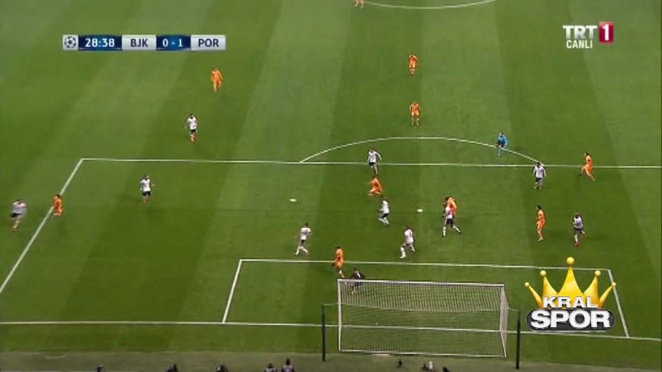 Beşiktaş 0-1 Porto GOL: Felipe