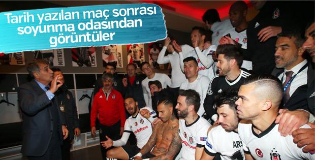 Porto maçı sonrası Beşiktaş soyunma odası