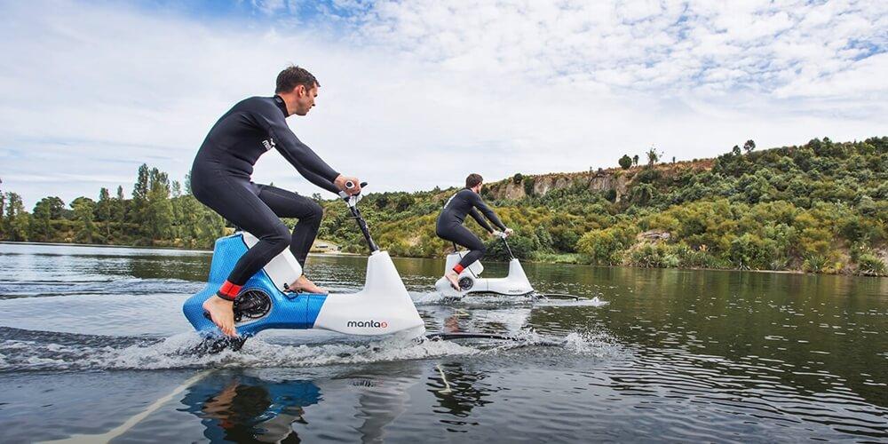 Suyun üzerinde bisiklet sürmek artık mümkün