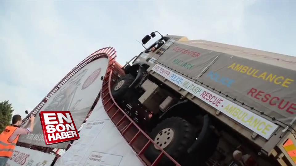 Tırmanışta dünya rekoru kıran kamyon