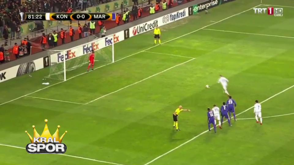 Konyaspor - Marsilya maçının golleri