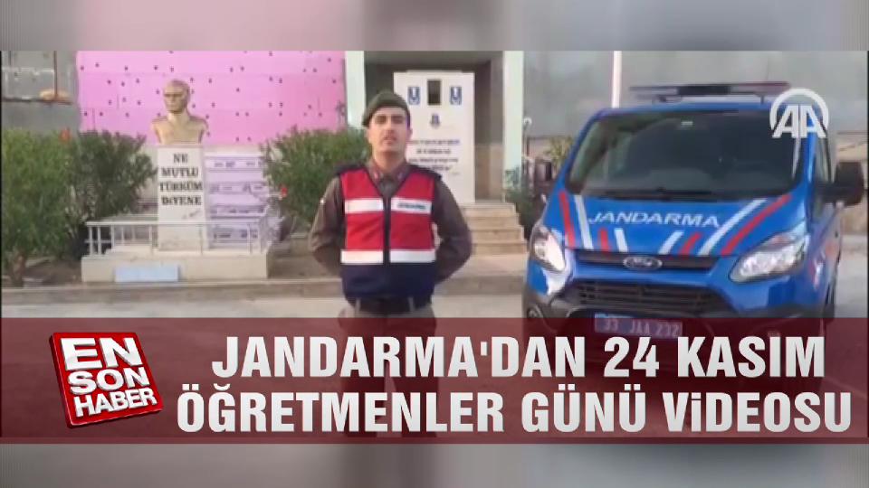 Jandarma'dan 24 Kasım Öğretmenler Günü videosu
