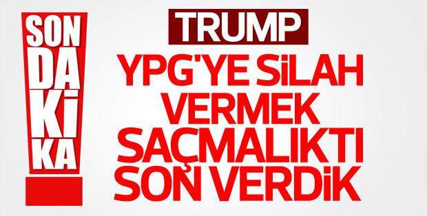 Trump: YPG'ye silah verilmeyecek