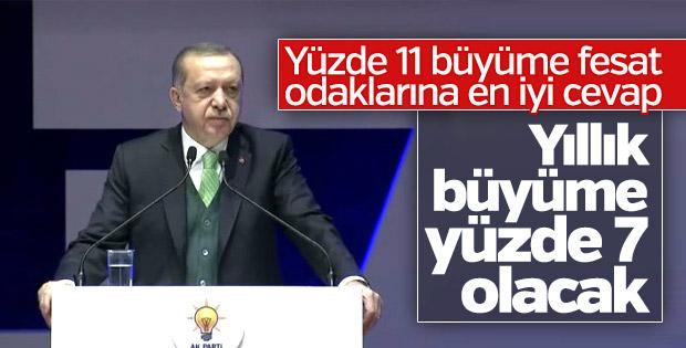 Erdoğan: Büyüme rakamlarıyla fesat odaklarına en güzel cevabı verdik