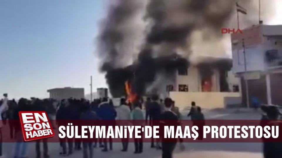 Süleymaniye'de maaş protestosu