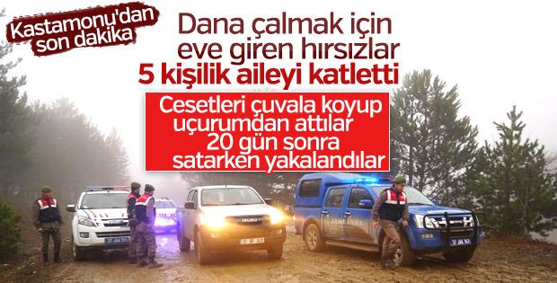 Kastamonu'da 5 kişilik aileyi katleden zanlılar yakalandı