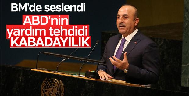 Çavuşoğlu BM Genel Kurulu'nda konuştu