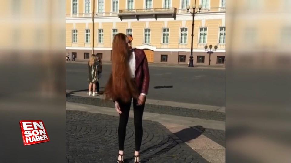Rus 'Rapunzel' sosyal medyada büyük ilgi görüyor