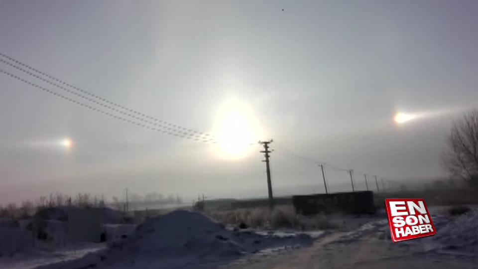 Gökyüzünde beliren üç güneş
