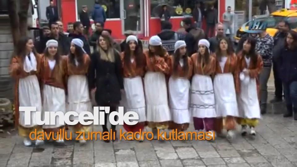Tunceli'de davullu zurnalı kadro kutlaması
