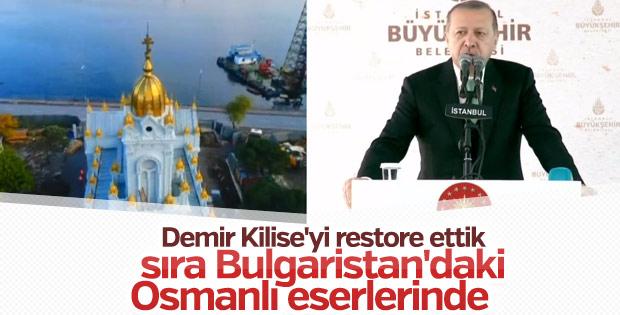 Erdoğan Demir Kilise'nin açılış töreninde konuştu