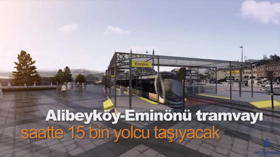 Alibeyköy-Eminönü tramvayı saatte 15 bin yolcu taşıyacak