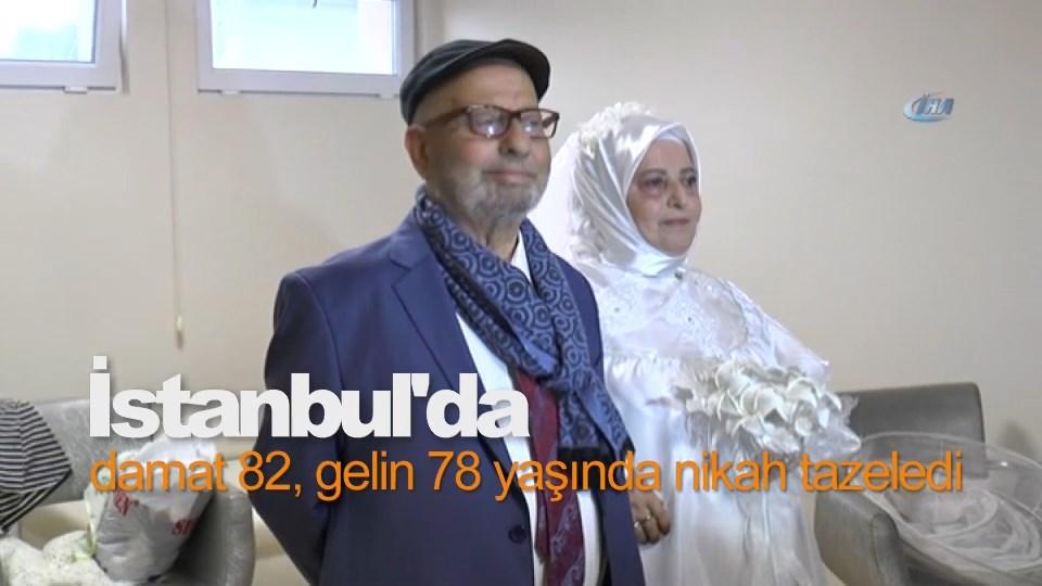 Damat 82, gelin 78 yaşında nikah tazeledi