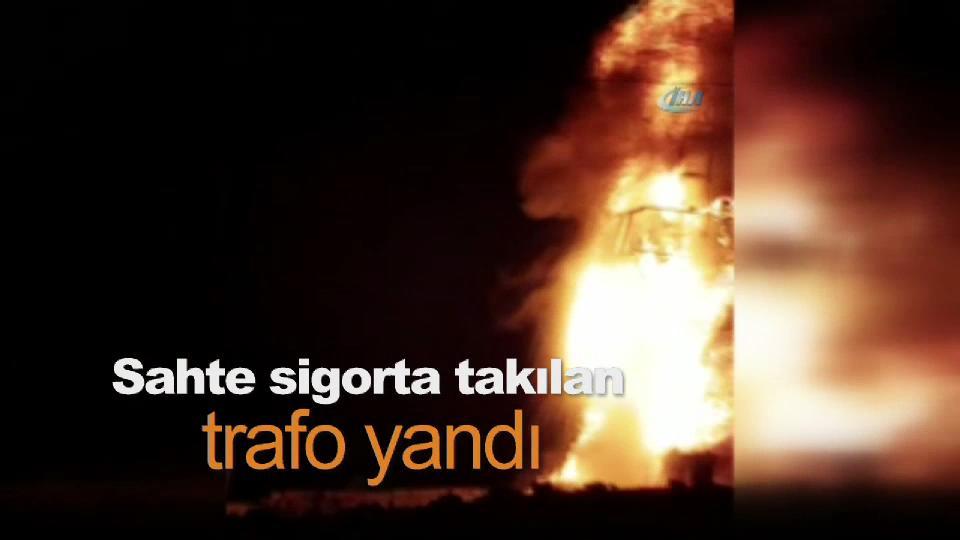 Mardin'de sahte sigorta takılan trafo yandı