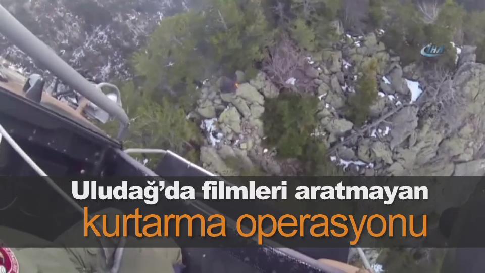 Uludağ'da mahsur kalan kişilerin kurtarıldığı operasyon