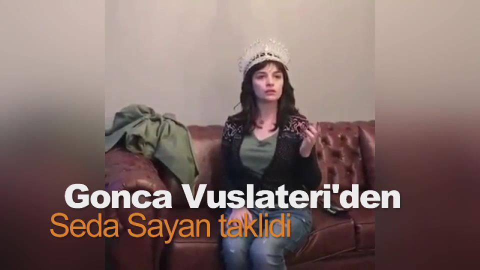 Gonca Vuslateri Seda Sayan'ı taklit etti