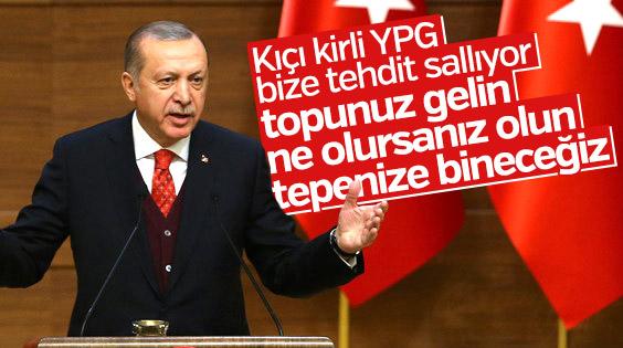 Erdoğan ABD'nin terör ordusuna kıçı kirli bazıları dedi