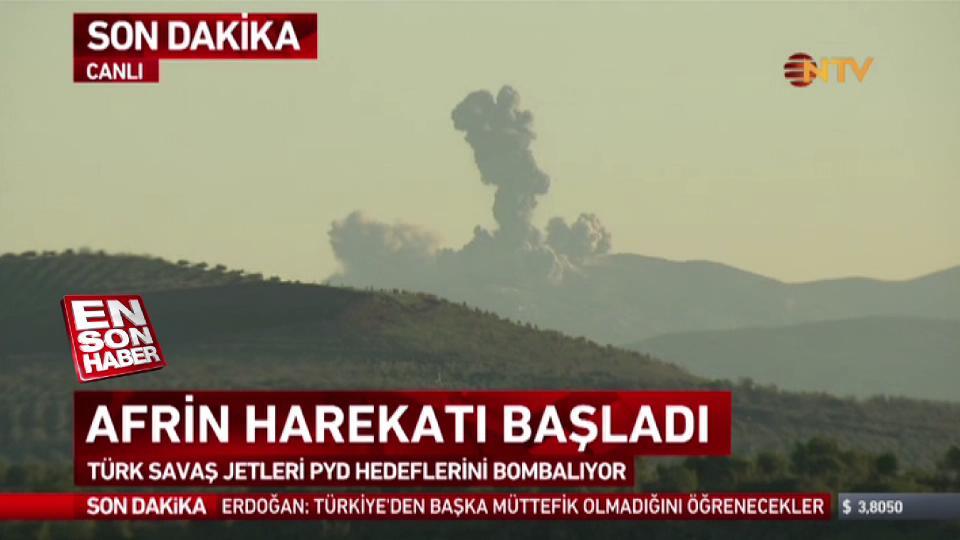 F-16'lar havadan ÖSO karadan Afrin'de