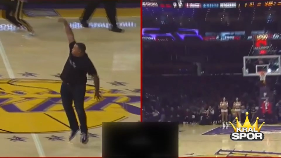 Los Angeles Lakers taraftarının 100 bin dolarlık basketi