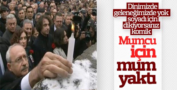 Kılıçdaroğlu, Uğur Mumcu anma töreninde mum yaktı