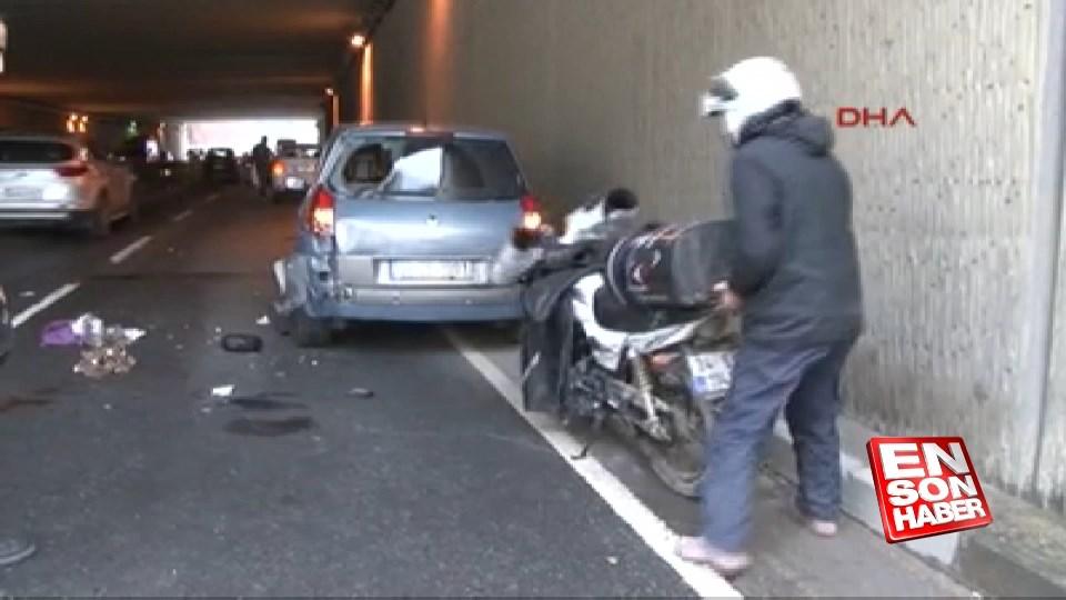 Sarıyer'de motosiklet kazası