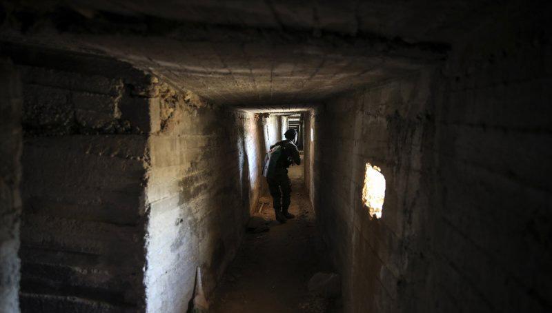 Sirgaya Tepesi'ndeki beton tüneller deşifre oldu