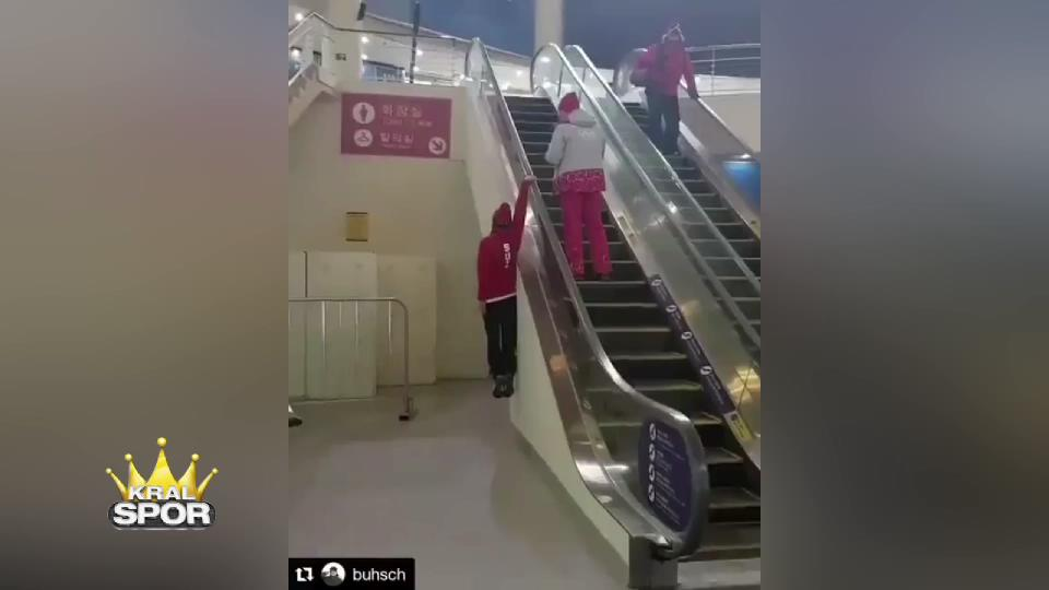 İsviçreli kayakçıdan alternatif merdiven çıkma yöntemi