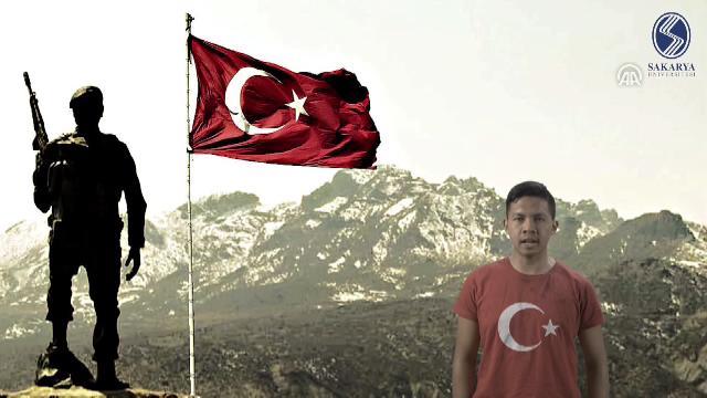 Yabancı öğrencilerden Mehmetçik'e klipli destek