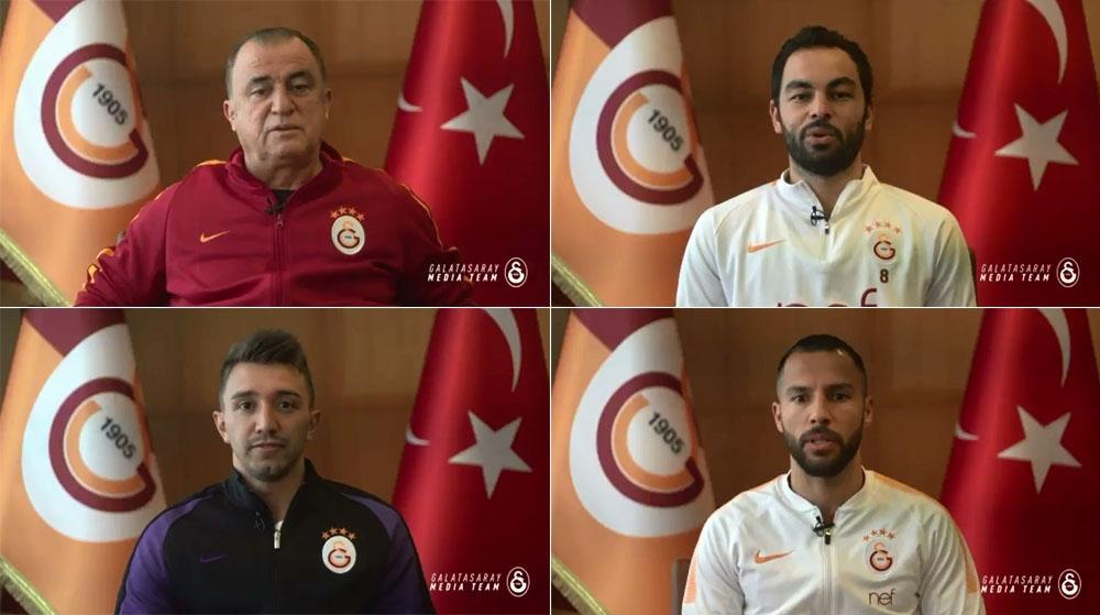 Galatasaray'dan Mehmetçik'e destek videosu