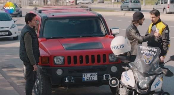 Çukur dizisinde Trafik Polisi sahnesi