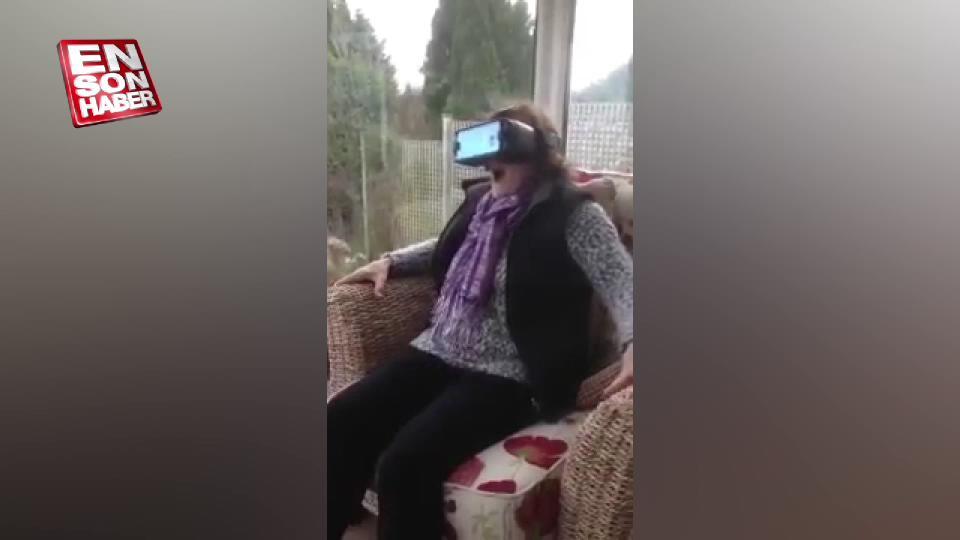 Teyzenin sanal gerçeklik gözlüğü ile imtihanı