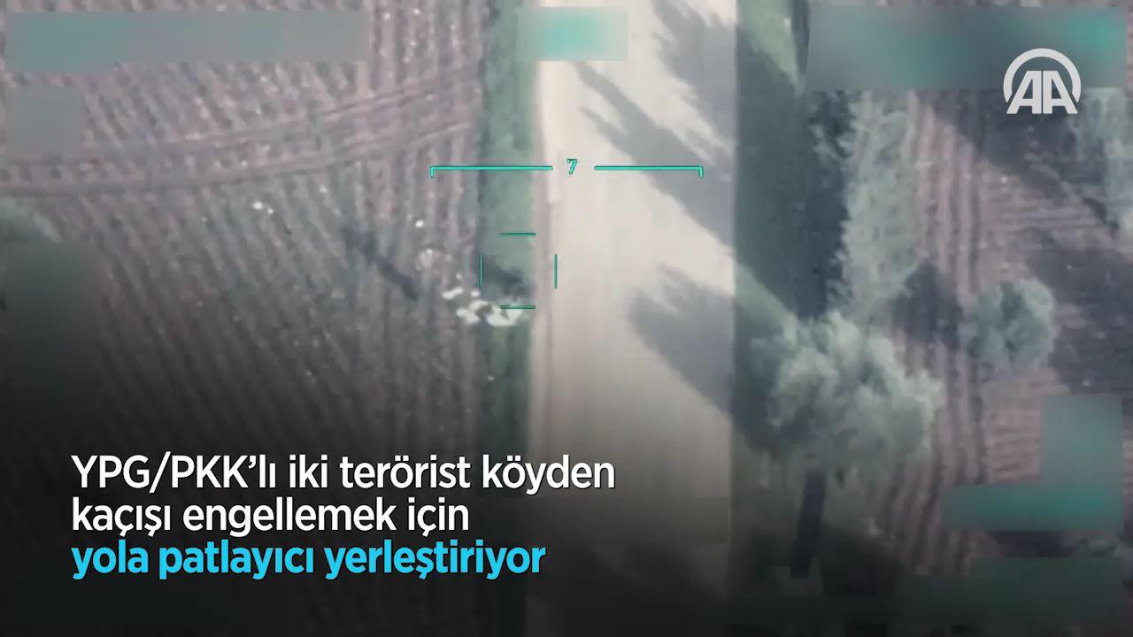 Afrin'de teröristlerin sivilleri katlettiği tuzaklama anları