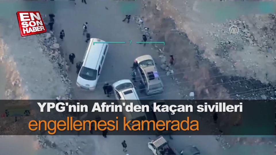 YPG/PKK sivillerin Afrin'den çıkışına izin vermiyor