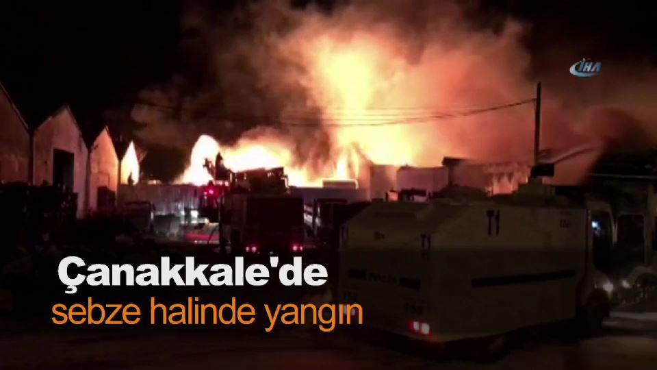 Çanakkale'de sebze halinde yangın