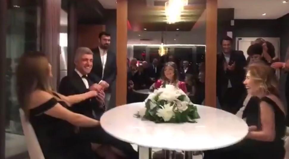Özcan Deniz ile Feyza Aktan'ın nikah töreni