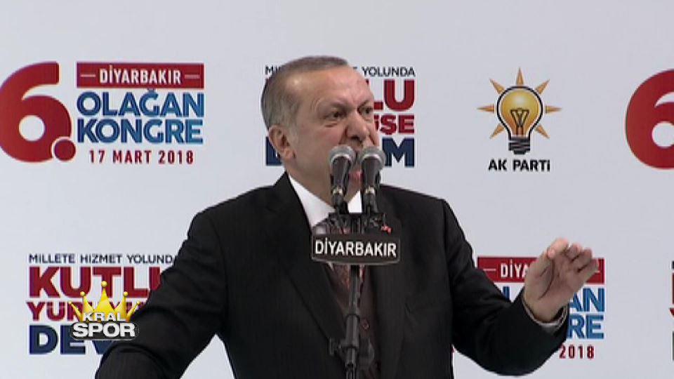 Cumhurbaşkanı Erdoğan: Şampiyonluk maçı Diyarbakır'da