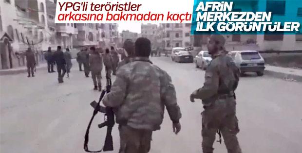 Mehmetçik ve ÖSO Afrin kent merkezinde