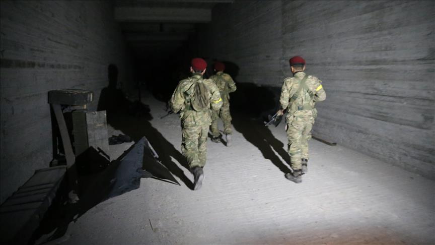 YPG'nin 12 odalı yer altı mühimmat deposu bulundu