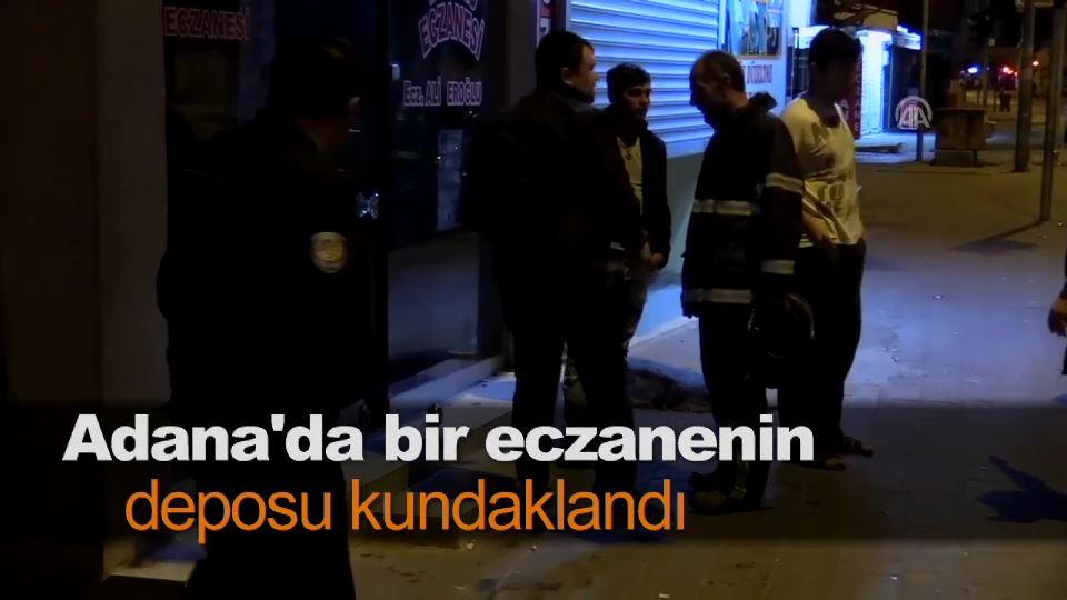 Adana'da bir eczanenin deposu kundaklandı