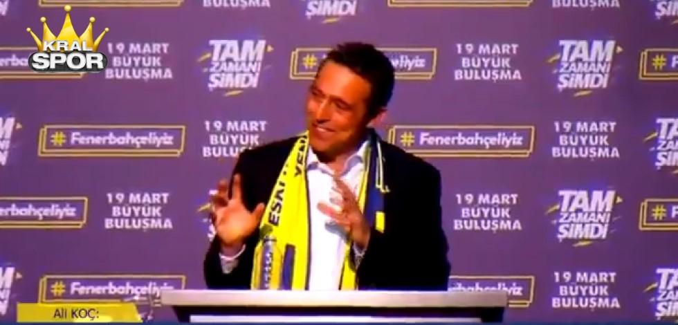 Ali Koç'un Ersun Yanal cevabı salonda alkış topladı