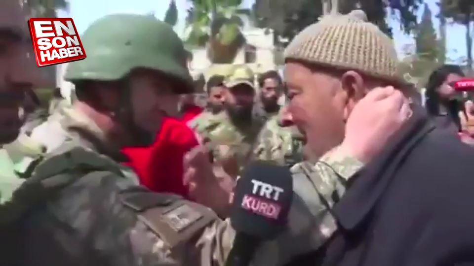 Teröristlerin zulmünü anlatan Afrinli amcanın gözyaşları