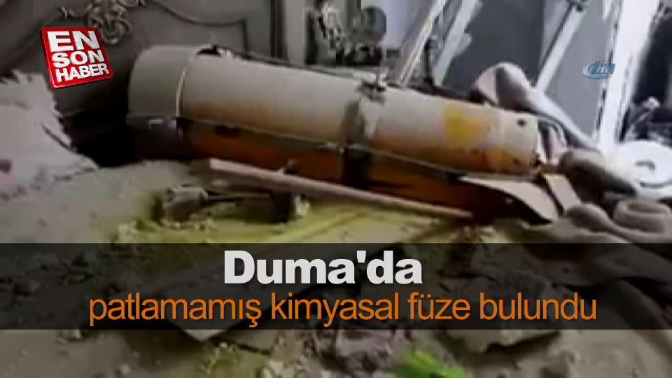 Duma'da patlamamış kimyasal füze bulundu