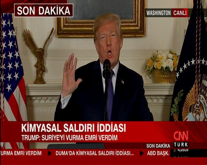 Trump: Suriye'yi vurma emrini verdim